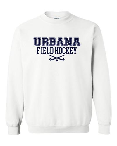 Urbana FIELD HOCKEY Cotton Crewneck Sweatshirt Sticks Many Colors Available Size S-3XL WHITE