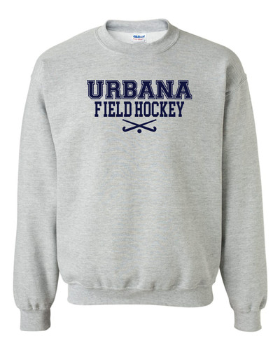 Urbana FIELD HOCKEY Cotton Crewneck Sweatshirt Sticks Many Colors Available YOUTH Size S-XL  SPORTS GREY
