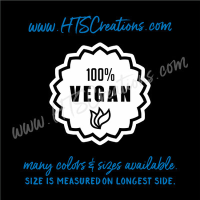 Vegan Vegetarian Herbivorous 100% Badge Vegetable Vinyl Decal Laptop CarTruck Thermos
