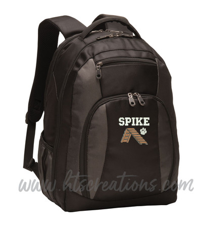 Dog Agility A Frame Dog Walk Paw Prints Puppy Rescue Sports Agility K9 Service Personalized Embroidered Monogram Backpack FONT STYLE VARSITY