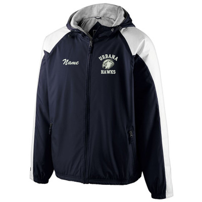 UHS Urbana Hawks Unified Sports Jacket Holloway Homefield Hooded Windbreaker With NamePersonalization Available Sz S-3XL WITH BACKSIDE DECORATION