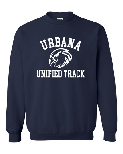 UHS Urbana Hawks Crewneck Cotton Sweatshirt UNIFIED TRACK Many Colors Available Size S-3XL NAVY
