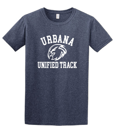 UHS Urbana Hawks T-shirt Cotton UNIFIED TRACK Many Colors Available Sz S-3XL HEATHER NAVY