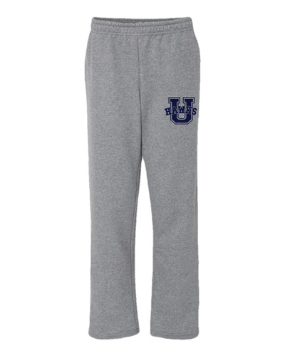 UHS Urbana Hawks Sweatpants Cotton OPEN BOTTOM With Pockets Many Colors Available SIZE S-2XL SPORTS GREY