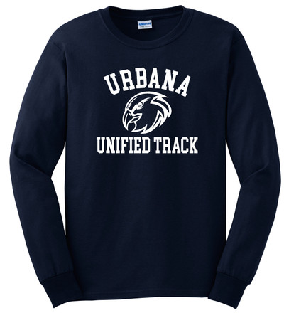 UHS Urbana Hawks T-shirt Cotton LONG SLEEVE UNIFIED TRACK Many Colors Available SZ S-3XL NAVY