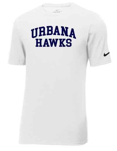UHS Urbana Hawks T-shirt NIKE Cotton Many Colors Available Sz S-3XL WHITE