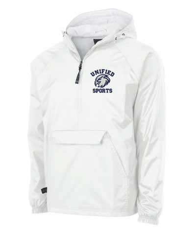UHS Urbana Hawks Half Zip UNIFIED SPORTS Pullover Nylon Lightweight Jacket Charles River Personalization Available Many Colors  SZ S-3XL WHITE