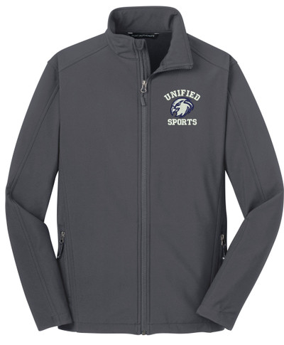 UHS Urbana Hawks Softshell UNIFIED SPORTS Jacket Navy or Grey Available  SZ S-3XL BATTLESHIP GREY