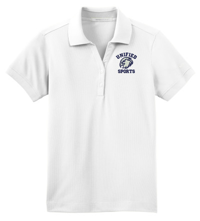 UHS Urbana Hawks UNIFIED SPORTS NIKE Dri-FIT Classic Polo Shirt LADIES Navy or White Color Available SZ S-2XL  WHITE