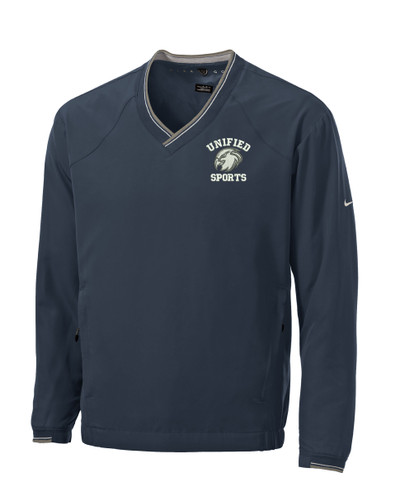UHS Urbana Hawks UNIFIED SPORTS NIKE  V-Neck Windshirt Navy SZ S-3XL