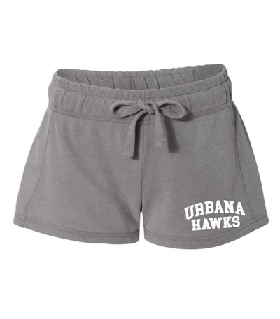 UHS Urbana Hawks UNIFIED SPORTS Shorts French Terry COMFORT COLORS GREY Shorts LADIES SZ S-XL
