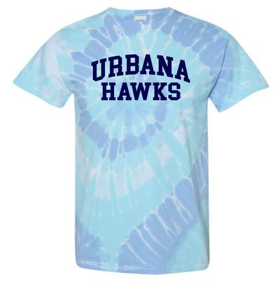 UHS Urbana Hawks T-shirt Tie Dyed WILDFLOWER  SZ S-2XL