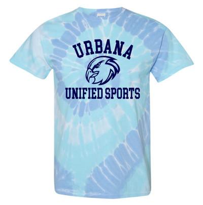 UHS Urbana Hawks T-shirt Tie Dyed WILDFLOWER UNIFIED SPORTS SZ S-2XL