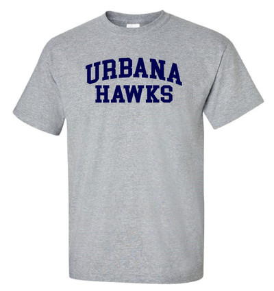 UHS Urbana Hawks T-shirt Cotton Many Colors Available Sz S-3XL SPORTS GREY
