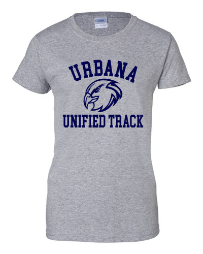 UHS Urbana Hawks T-shirt Cotton UNIFIED TRACK LADIES Many Colors Available Sz XS-3XL  SPORTS GREY