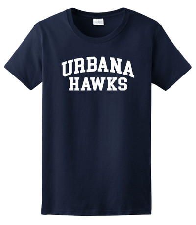 UHS Urbana Hawks T-shirt Cotton LADIES Many Colors Available Sz XS-3XL NAVY