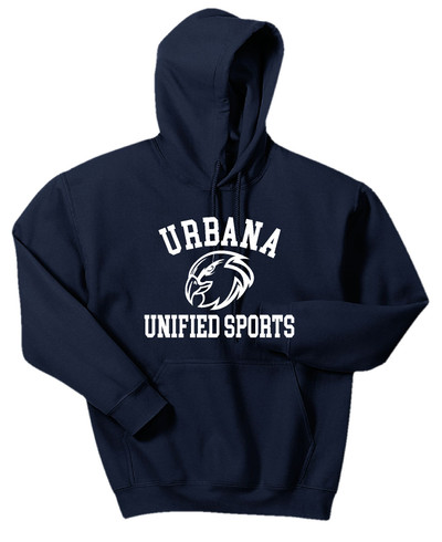 UHS Urbana Hawks Cotton Hoodie Sweatshirt Many Colors Available UNIFIED SPORTS SZ S-3XL NAVY