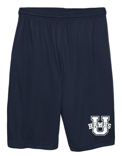 UHS Urbana Hawks Shorts Performance with Pockets Colors Navy or Grey Available SIZE S-3XL NAVY