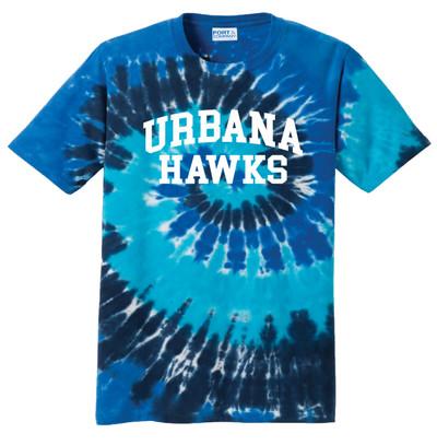 UHS Urbana Hawks T-shirt Tie Dyed OCEAN RAINBOW SZ S-3XL