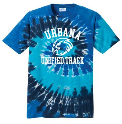 UHS Urbana Hawks T-shirt Tie Dyed OCEAN RAINBOW UNIFIED TRACK SZ S-3XL