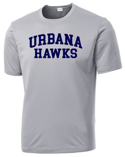 UHS Urbana Hawks T-shirt Performance Posi Charge Competitor Many Colors Available SZ XS-4XL SILVER