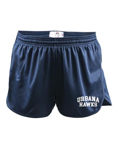 UHS Urbana Hawks Shorts Track Running LADIES Many Colors Available Sizes  XS-2XL NAVY