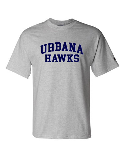UHS Urbana Hawks T-shirt Cotton CHAMPION Many Colors Available Sz S-3XL LIGHT STEEL