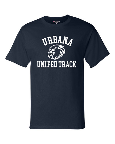 UHS Urbana Hawks T-shirt Cotton CHAMPION UNIFIED TRACK Many Colors Available Sz S-3XL NAVY