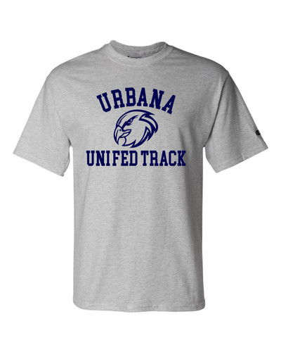 UHS Urbana Hawks T-shirt Cotton CHAMPION UNIFIED TRACK Many Colors Available Sz S-3XL LIGHT STEEL