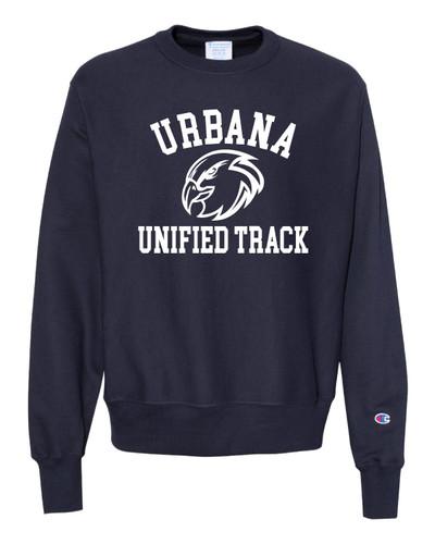 UHS Urbana Hawks Crewneck Sweatshirt Reverse Weave CHAMPION UNIFIED TRACK Many Colors Available Sz S-3XL NAVY
