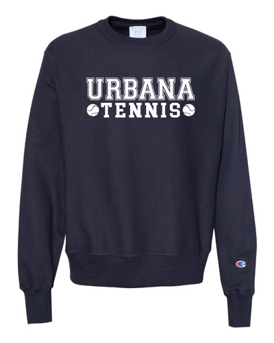 UHS Urbana Hawks Cotton Crewneck Sweatshirt TENNIS Reverse Weave CHAMPION Many Colors Available Sz S-3XL  NAVY