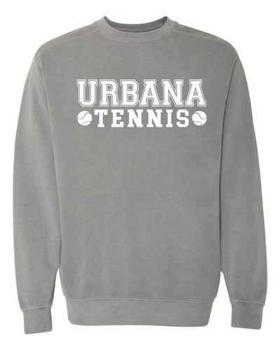 UHS Urbana Hawks Crewneck Sweatshirt COMFORT COLORS TENNIS Many Colors Available Size S-3XL GREY