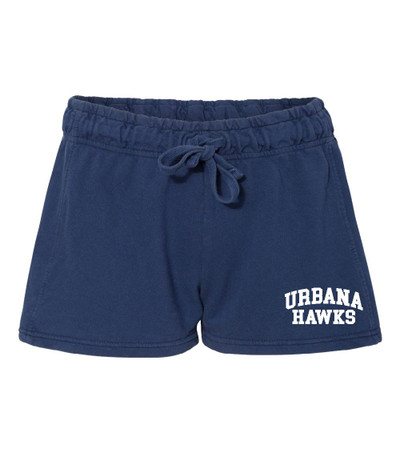 UHS Urbana Hawks UNIFIED SPORTS Shorts French Terry COMFORT COLORS NAVY Shorts LADIES SZ S-XL