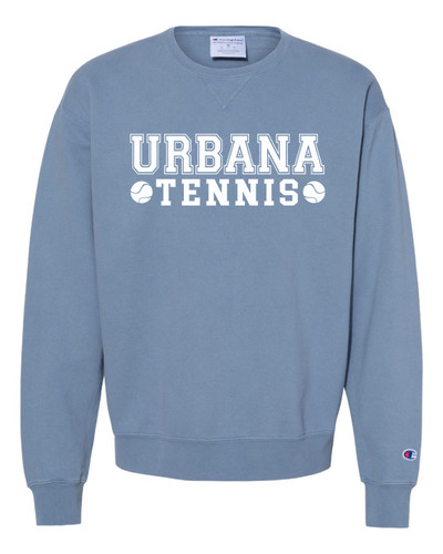 UHS Urbana Hawks Cotton Crewneck Sweatshirt CHAMPION Garment Dyed TENNIS Many Colors Available Sz S-3XL SALTWATER