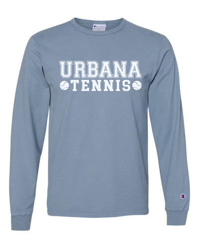 UHS Urbana Hawks Cotton T-shirt LONG SLEEVE CHAMPION Garment Dyed TENNIS Many Colors Available Sz S-3XL SALTWATER