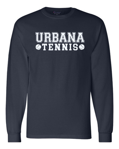 UHS Urbana Hawks Cotton T-shirt LONG SLEEVE CHAMPION TENNIS Many Colors Available Sz S-3XL  NAVY