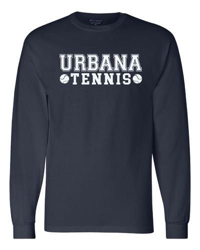 UHS Urbana Hawks Cotton T-shirt LONG SLEEVE CHAMPION TENNIS Many Colors Available Sz S-3XL  NAVY