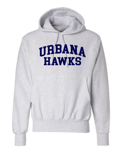 UHS Urbana Hawks Cotton Champion Reverse Weave Cotton Hoodie Sweatshirt Many Colors Available   Sz S-3XL SILVER GREY