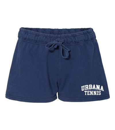 UHS Urbana Hawks Shorts French Terry COMFORT COLORS NAVY Shorts TENNIS LADIES SZ S-XL
