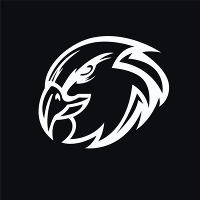 Urbana Hawks Head  Vinyl Decal Car Truck Mirror Wall Laptop Trailer
