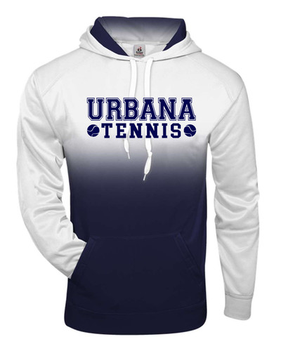 UHS Urbana Hawks Performance Badger Ombre Hoodie TENNIS Sweatshirt Navy or Graphite Available  Sz S-4XL NAVY