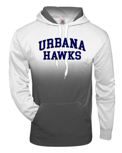 UHS Urbana Hawks Performance Badger Ombre Hoodie Sweatshirt Navy or Graphite Available  Sz S-4XL  GRAPHITE