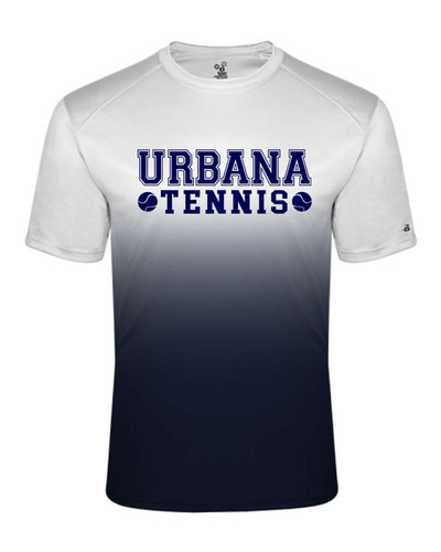 UHS Urbana Hawks Performance Badger Ombre T-SHIRT TENNIS Sz S-4XL NAVY