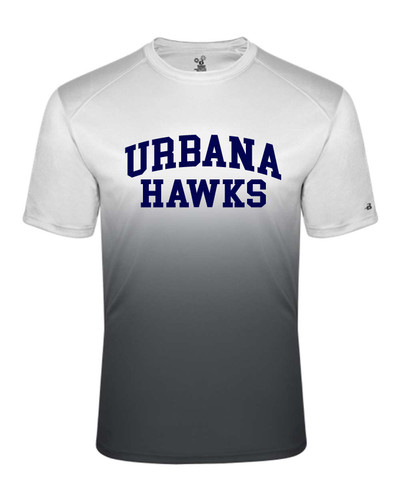 UHS Urbana Hawks Performance Badger Ombre T-SHIRT  Navy or Graphite Available  Sz S-4XL