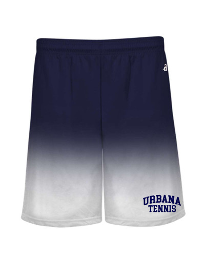 UHS Urbana Hawks Performance Badger Ombre SHORTS TENNIS Navy or Graphite Available  Sz S-4XL NAVY