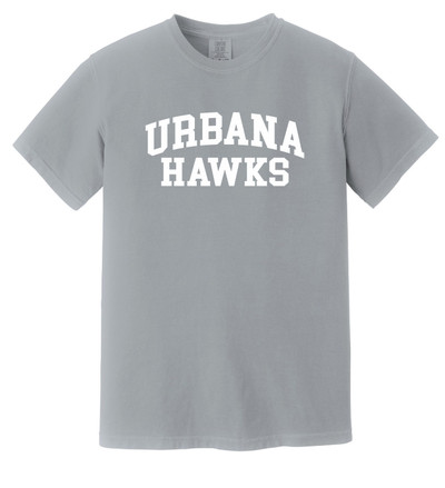 UHS Urbana Hawks Cotton T-shirt COMFORT COLORS Garment Dyed Many Colors Available Sz S-3XL  GREY