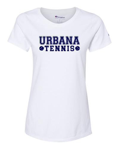 UHS Urbana Hawks T-shirt CHAMPION Cotton T-shirt Many Colors Available TENNIS LADIES Sz S-2XL  WHITE