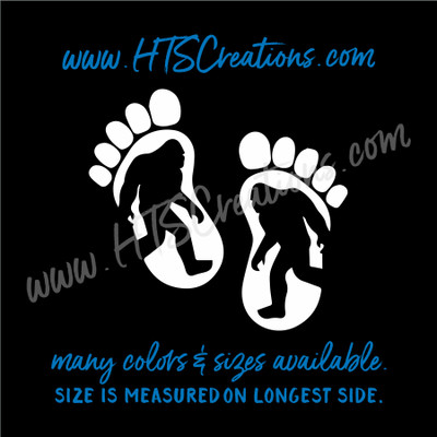 Big Foot Yeti Sasquatch Footprint Adventure Hiking Hunting Vinyl Decal Laptop Car Mirror Truck Mirror