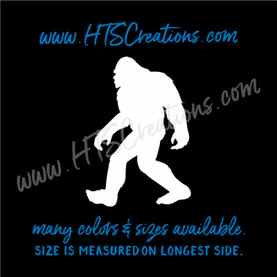 Big Foot Yeti Sasquatch Footprint Adventure Hiking Hunting Believe Vinyl Decal Laptop Car Mirror Truck Mirror
