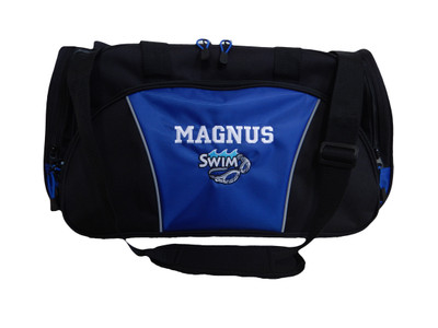Swim Goggles Diving Under Water Sports Swimming Personalized Embroidered TROPICAL ROYAL BLUE DUFFEL Font Style VARSITY
